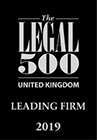 The Legal 500 Leading Firm 2019