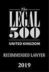 The Legal 500 Recommended Lawyer 2019